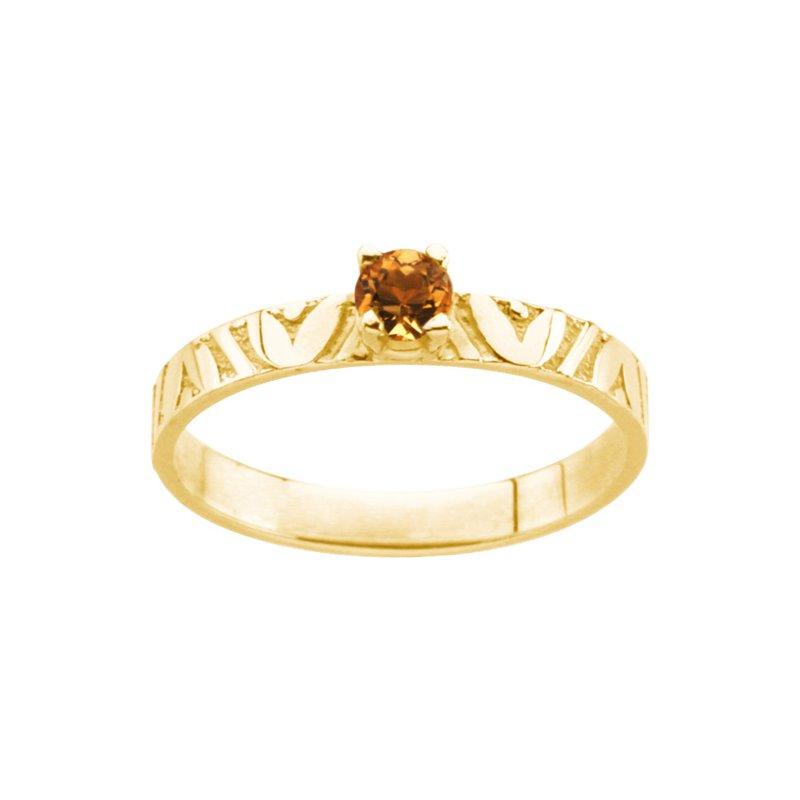 Birthstone Jewelry Children's Genuine Citrine November Birthstone Ring