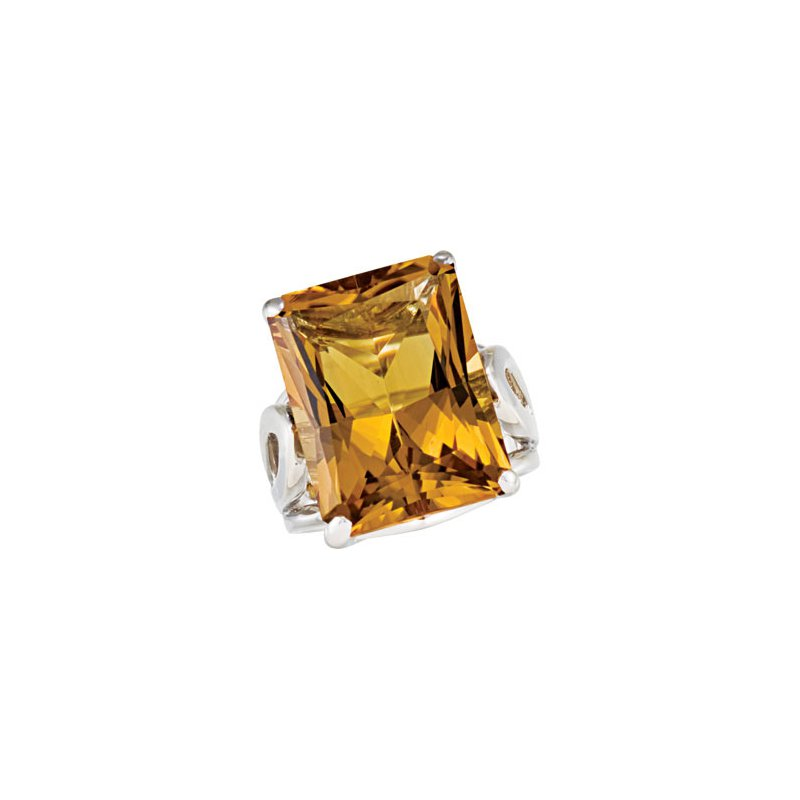Valentine Gift Ideas Genuine Honey Quartz Ring