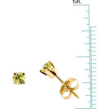 Children's Genuine Peridot August Birthstone Earrings