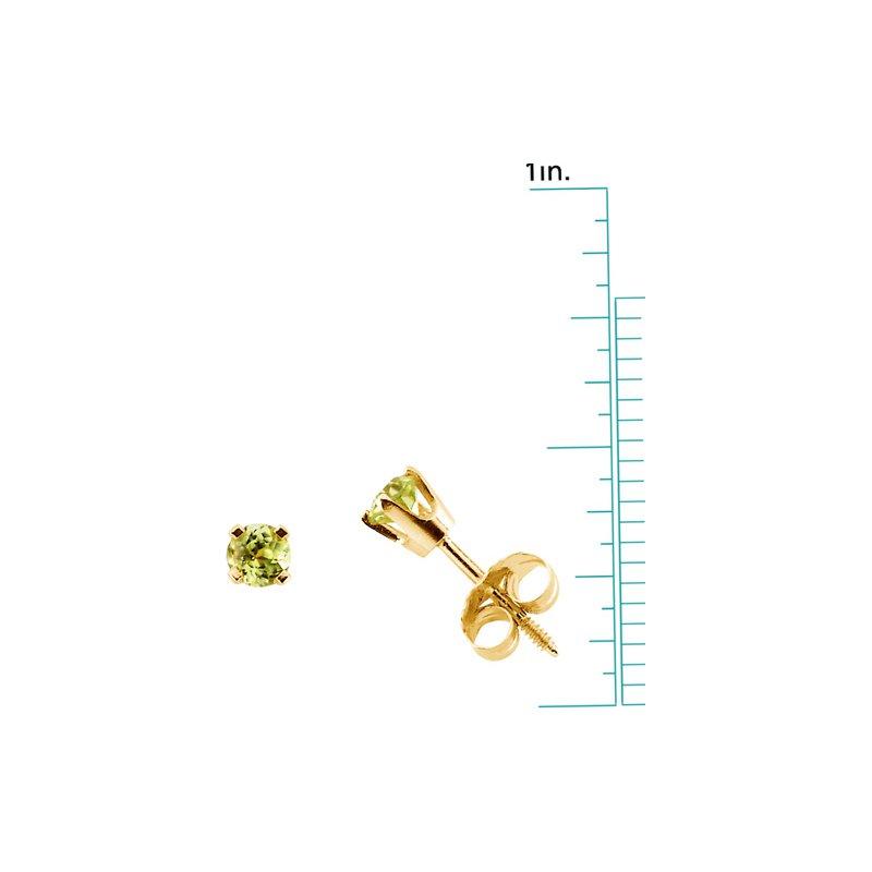 Birthstone Jewelry Children's Genuine Peridot August Birthstone Earrings