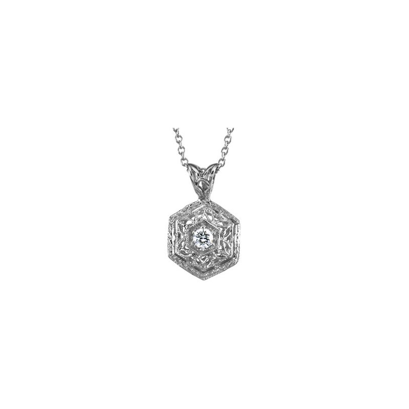 Ladies' Jewelry Platinum Diamond Necklace