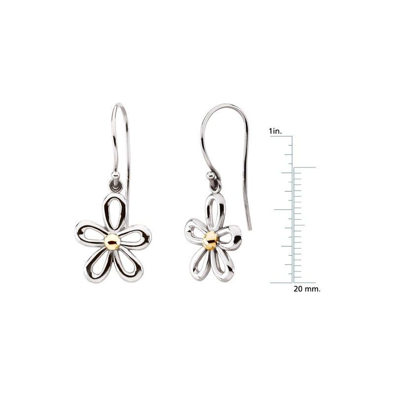 Ladies' Jewelry Gold Flower Earrings