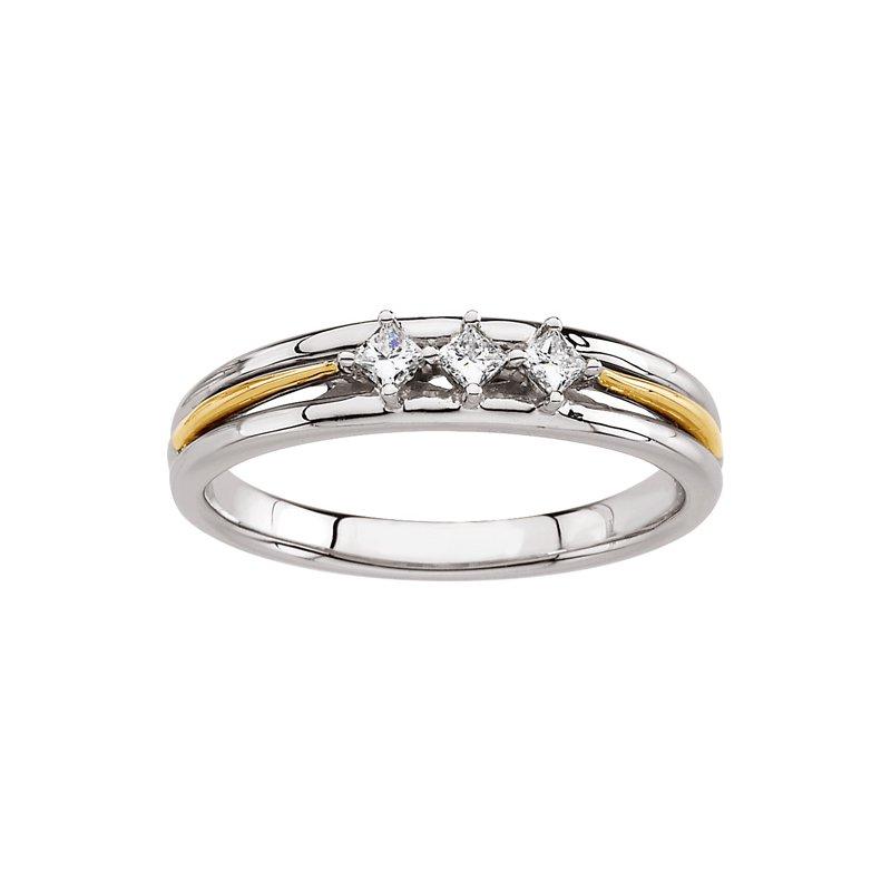 Susan Eisen 3-Stone Diamond Wedding Band