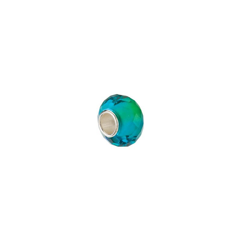 Holiday Ideas Kera Blue & Green Faceted Glass Bead
