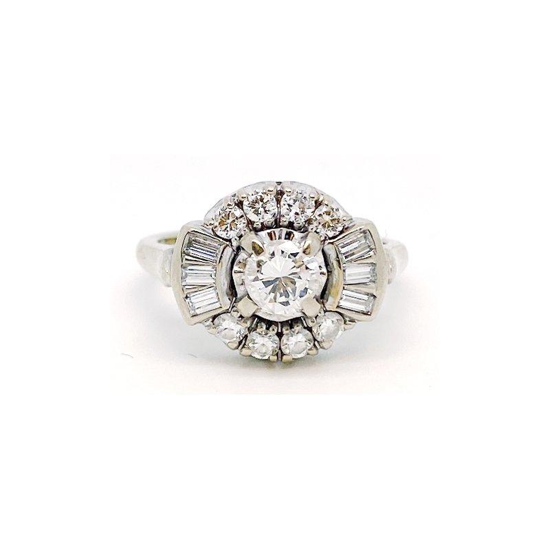 Estate & Vintage Vintage diamond and white gold ring