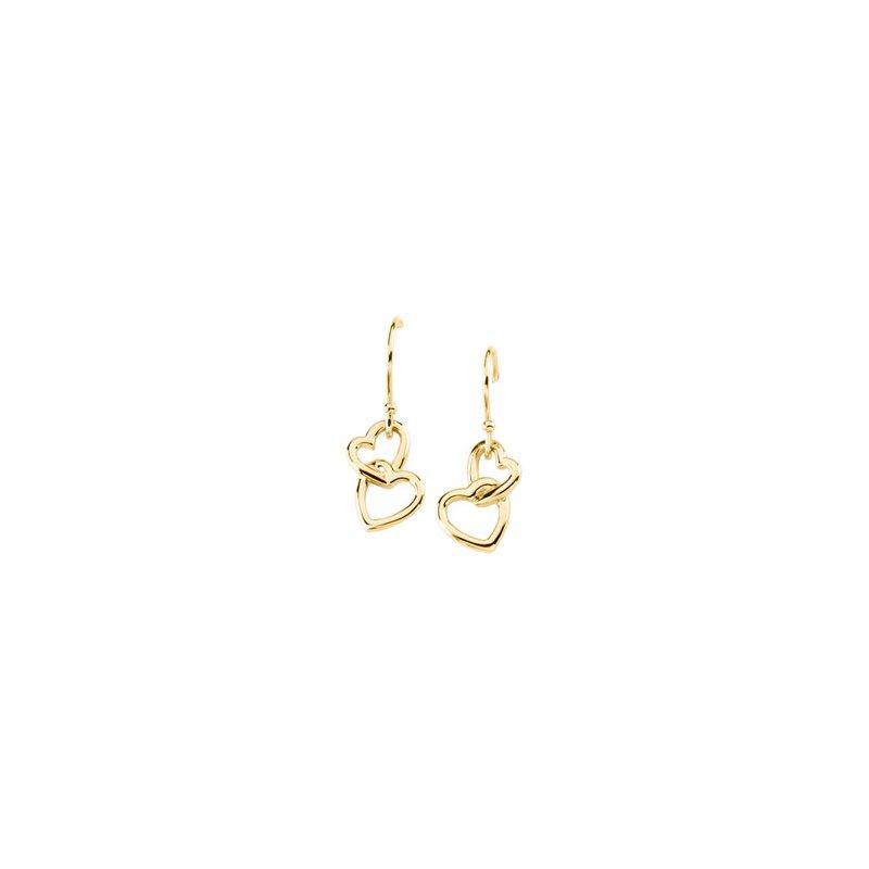Ladies' Jewelry Gold Fashion Heart Earrings