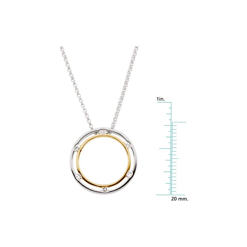 Ladies' Jewelry Diamond Circle Necklace