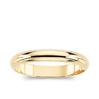 Half-Round Bands (Ladies' and Men's Sizes) 6mm Width