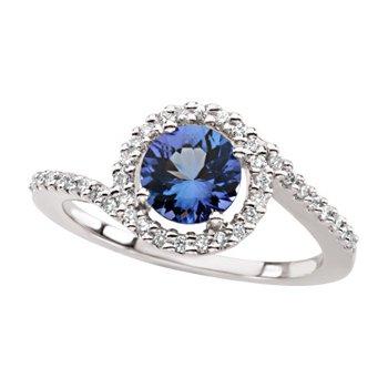 Genuine Tanzanite & Diamond Ring