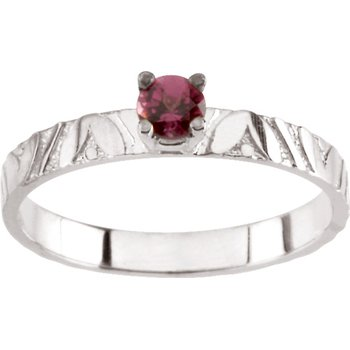 Children's Genuine Rhodolite Garnet June Birthstone Ring