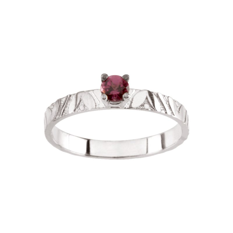 Birthstone Jewelry Children's Genuine Rhodolite Garnet June Birthstone Ring