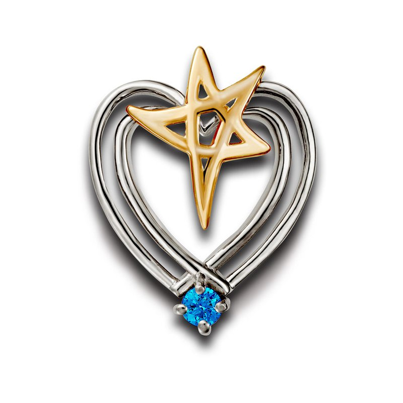 El Paso Star and Gifts Heartbeat of El Paso Collection: El Paso Star® and Heart Pendant
