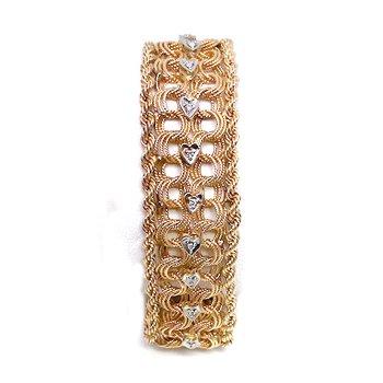 Vintage diamond, white and yellow gold bracelet