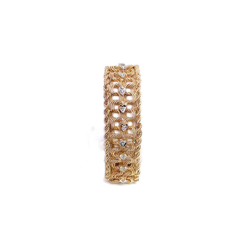 Estate & Vintage Vintage diamond, white and yellow gold bracelet
