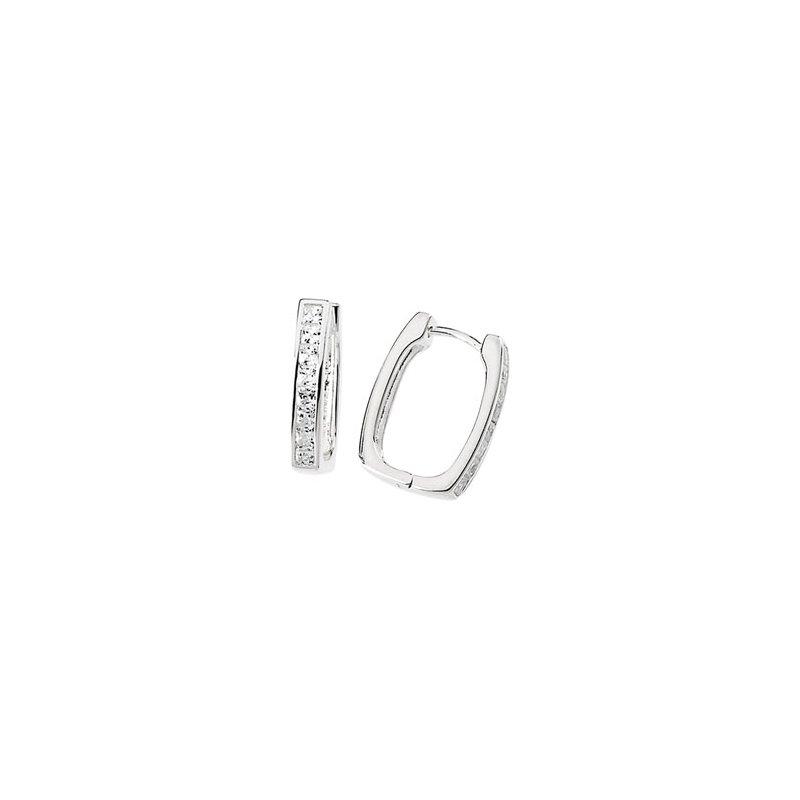 Ladies' Jewelry Cubic Zirconia Hinged Earrings