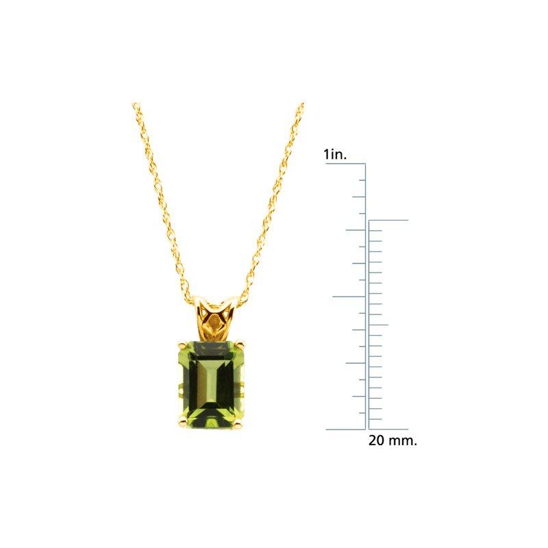 Ladies' Jewelry Genuine Peridot Necklace