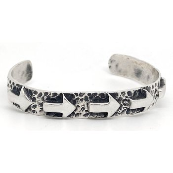 Contemporary American sterling silver bracelet