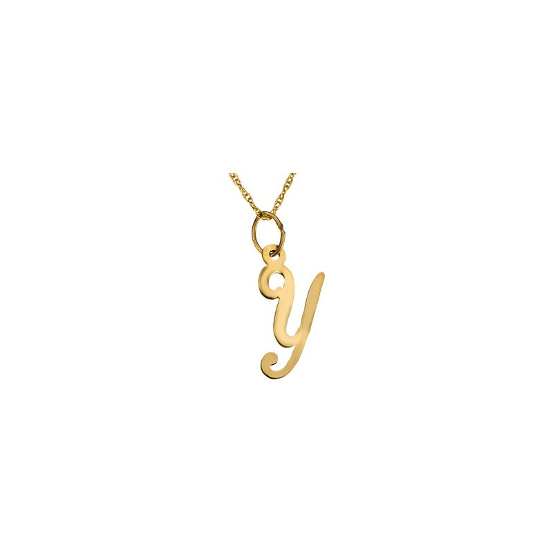 "Ladies' Jewelry Initial ""Y"" Necklace"
