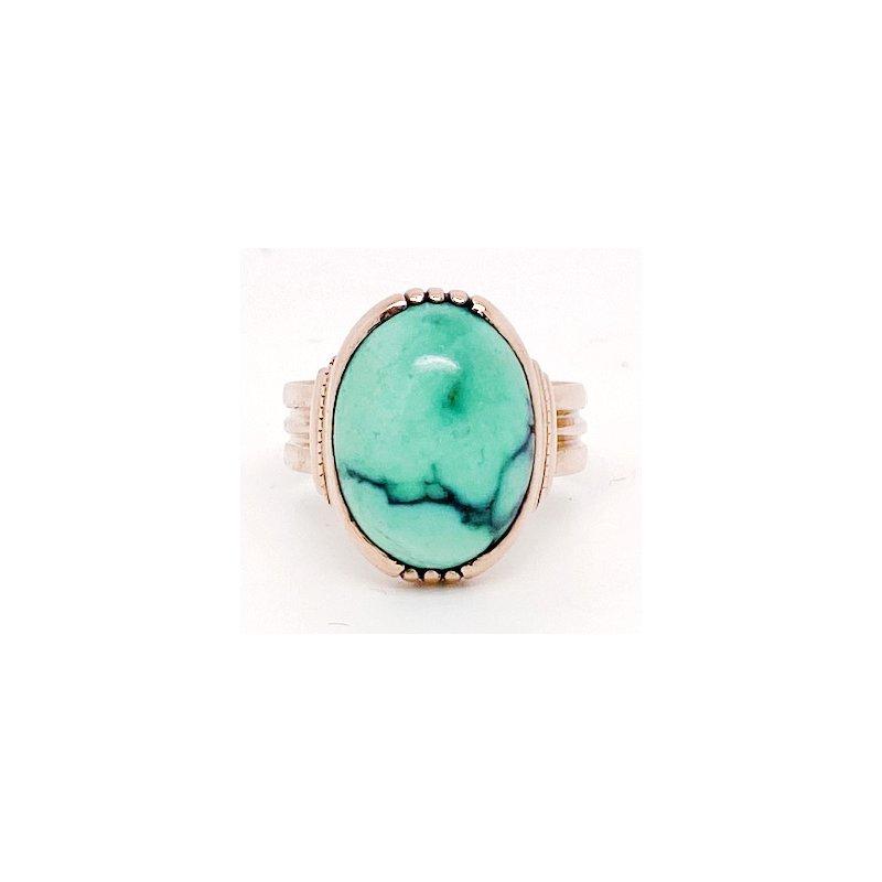 Estate & Vintage Lady's vintage blue stone and rose gold ring