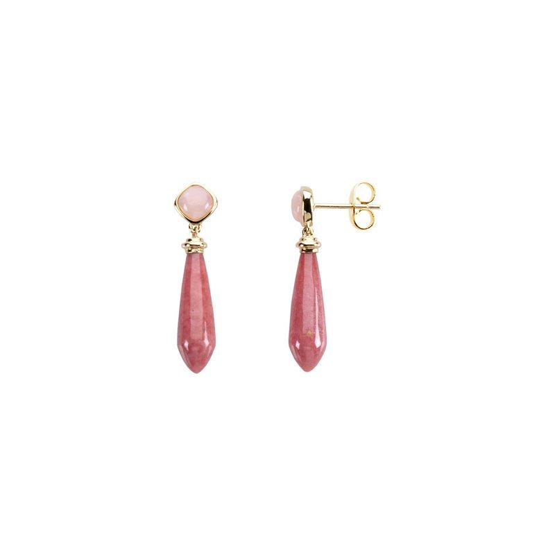 Ladies' Jewelry Genuine Multi Gem-stone Earrings