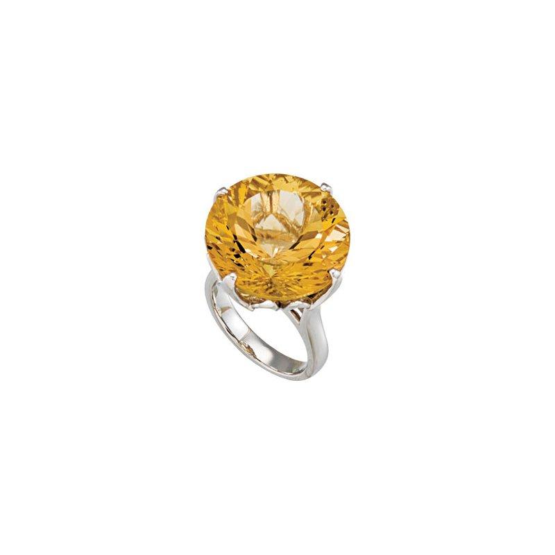 Holiday Ideas Genuine Yellow Quartz Ring