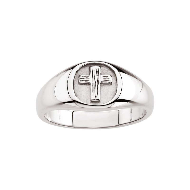 Religious Jewelry Rugged Cross Chastity Ring with Box