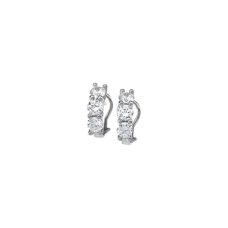 Ladies' Jewelry Three Stone Cubic Zirconia Earrings