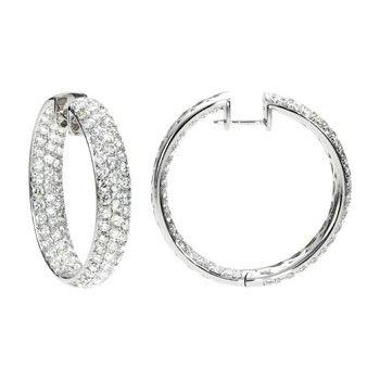6 ct tw Diamond Inside/Outside Hoop Earrings