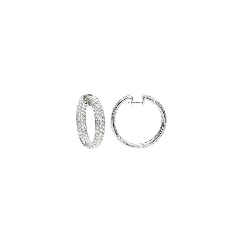 Holiday Ideas 6 ct tw Diamond Inside/Outside Hoop Earrings