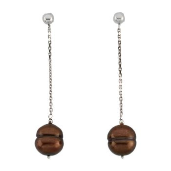 Freshwater Cultured Chocolate Pearl Earrings