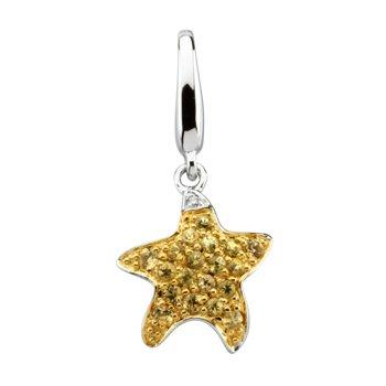 Genuine Yellow Sapphire Starfish Charm