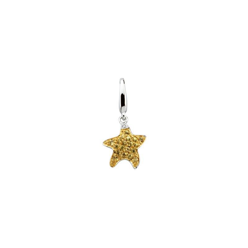 Holiday Ideas Genuine Yellow Sapphire Starfish Charm