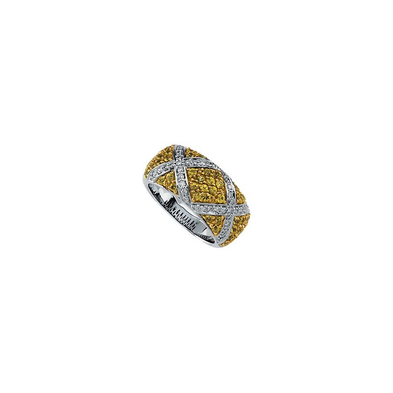 Holiday Ideas Genuine Yellow Sapphire & Diamond Ring