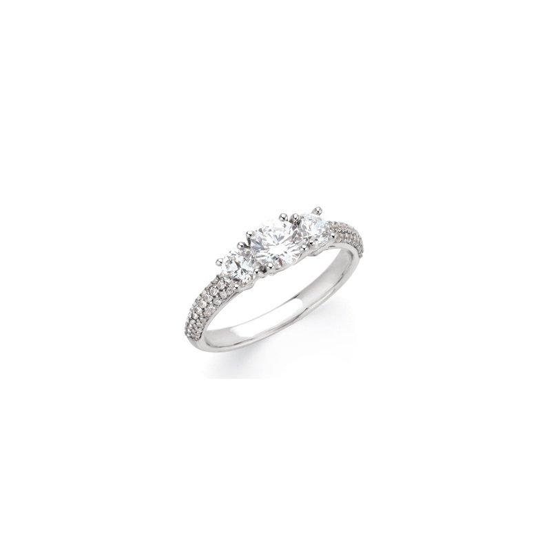 Holiday Ideas Semi-Mount Three Stone Engagement Ring