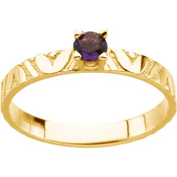 Children's Genuine Amethyst Birthstone Ring