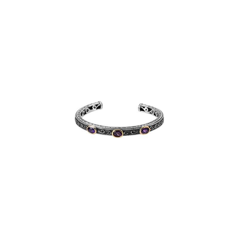 Ladies' Jewelry Genuine Multi Gem-stone Cuff Bracelet