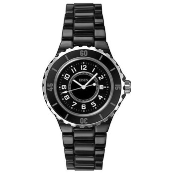 Eisen Lady's Black Ceramic Designer Quartz Wrist Watch