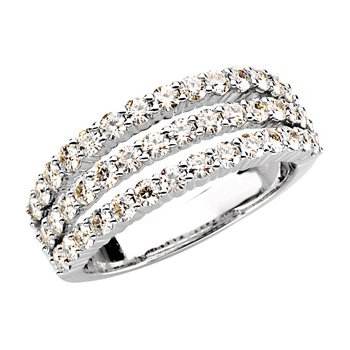 Created Moissanite 3 Row Ring