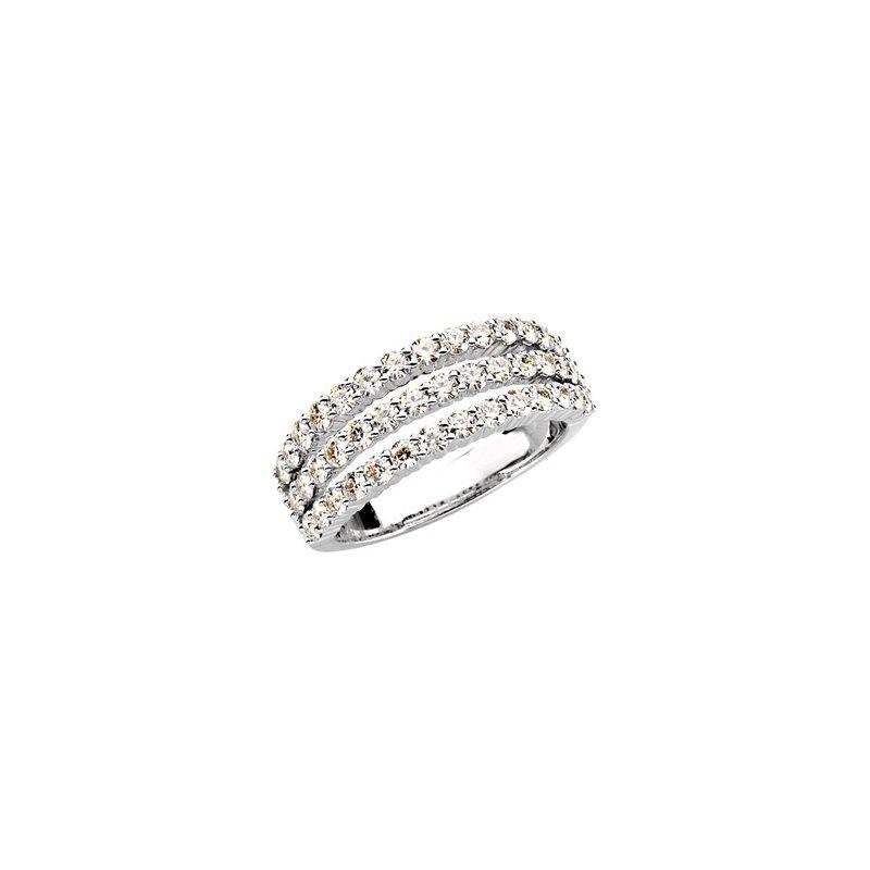 Ladies' Jewelry Created Moissanite 3 Row Ring