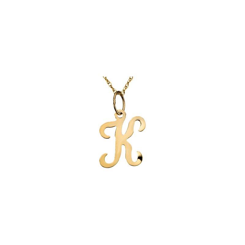 "Ladies' Jewelry Initial ""K"" Necklace"