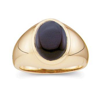 Men's Genuine Onyx Ring