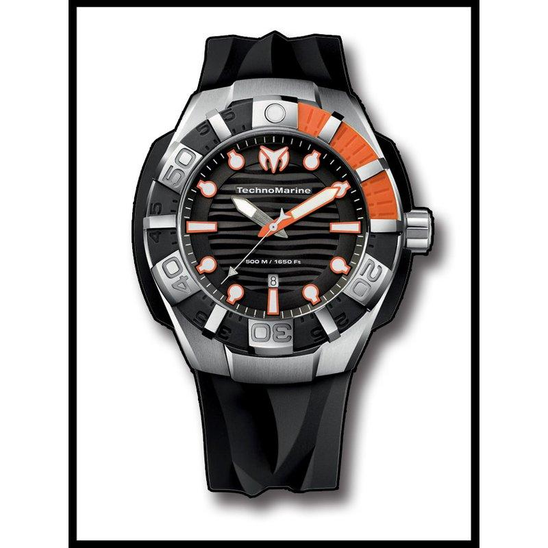 TechnoMarine TechnoMarine Watch Black Reef - Orange