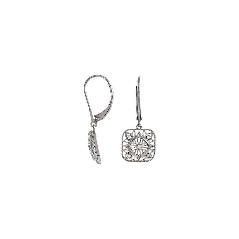 Holiday Ideas Diamond Leverback Earrings