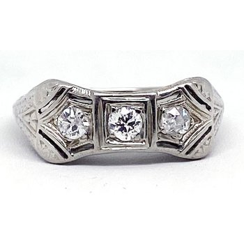 Vintage Bridal, Art Deco style ring
