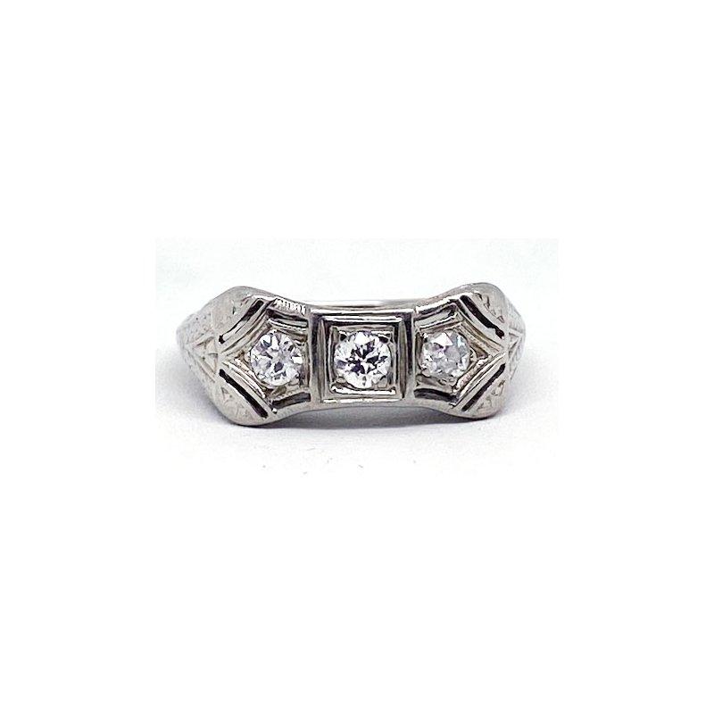 Vintage Bridal Vintage Bridal, Art Deco style ring