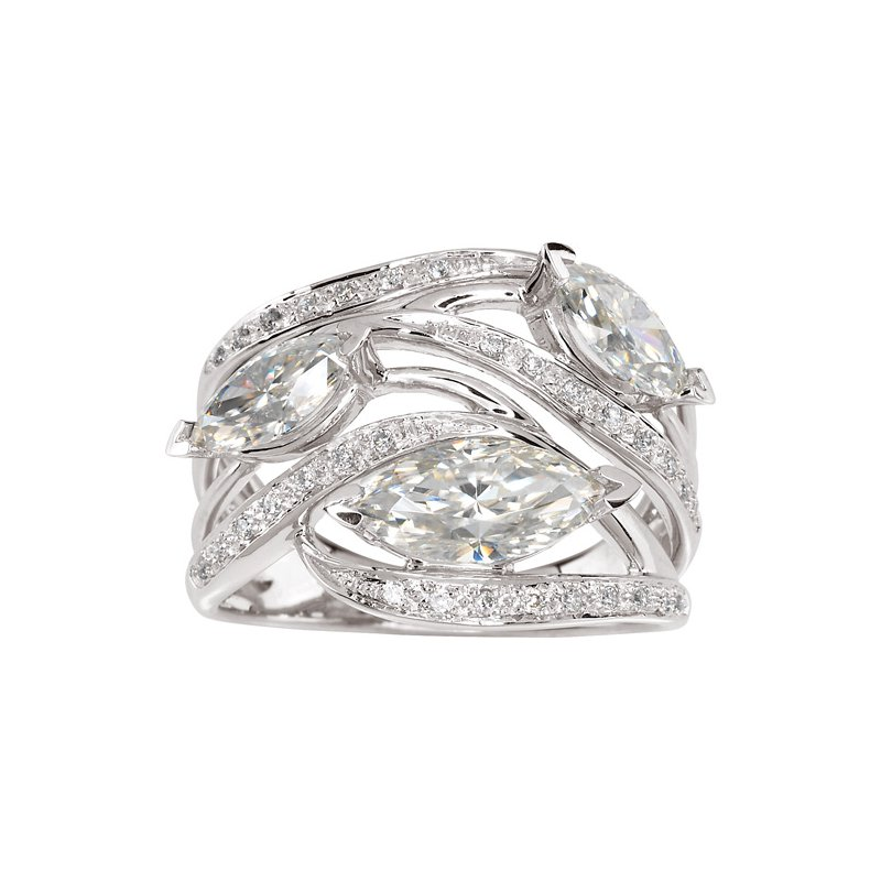 Ladies' Jewelry Moissanite & Diamond Ring