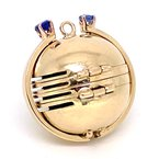 Estate & Vintage Vintage sapphire and yellow gold, photograph locket