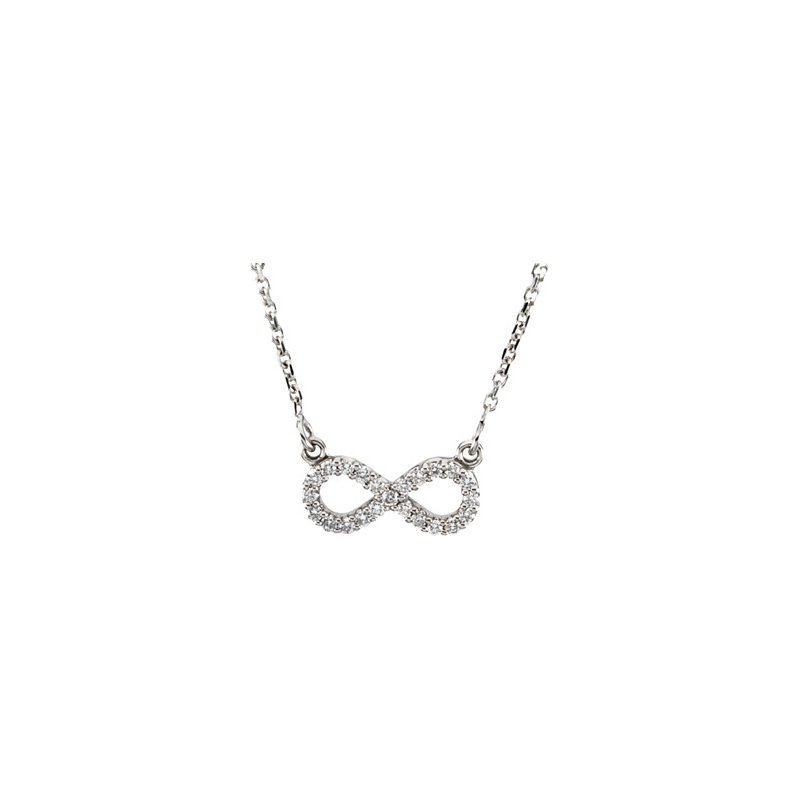 Ladies' Jewelry Diamond Infinity Necklace