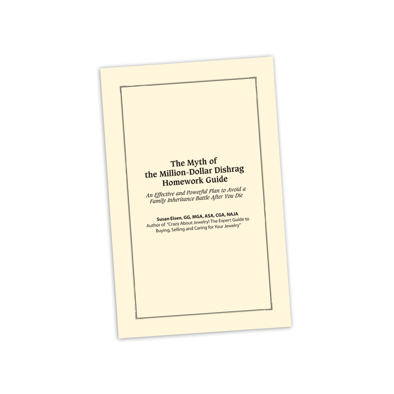 Books (Printed) The Myth of the Million Dollar Dishrag: An Effective and Powerful Plan to Avoid a Family Inheritance Battle After You Die - Homework Guidebook