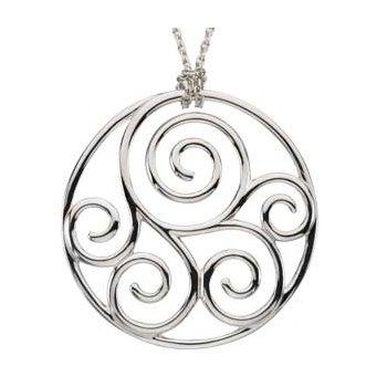 Scroll Pattern Necklace